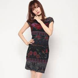 デシグアル Desigual プリントタイトドレス (BLACK)