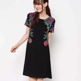 デシグアル Desigual 半袖ロングTシャツドレス (BLACK)