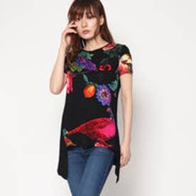 デシグアル Desigual 半袖Tシャツ (ブラック)