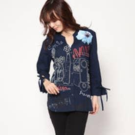 デシグアル Desigual カジュアルコットンシャツ (ブルー)