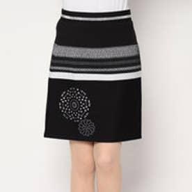 デシグアル Desigual ウエストゴムタイプミニ丈スカート (ブラック)