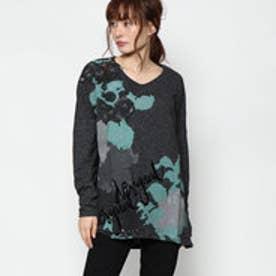 デシグアル Desigual 長袖ロングTシャツ (ブラック)