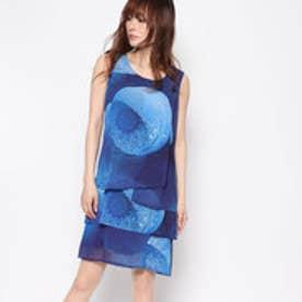 デシグアル Desigual ノースリーブプリントドレス (ブルー)