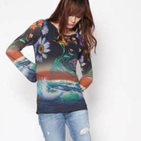 デシグアル Desigual Tシャツ(長袖) (ブラック系)