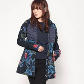 デシグアル Desigual COAT LONG PADDED GEOPAT (ブルー)