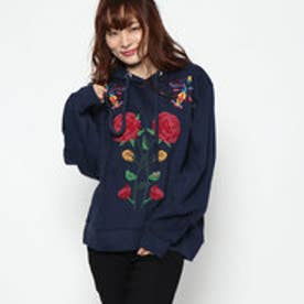 デシグアル Desigual WOMAN KNIT SWEAT LONG SLEEVE (Blue/Navy)