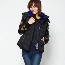 デシグアル Desigual WOMAN WOVEN PADDED SHORT OVERCOAT (Grey/Black)