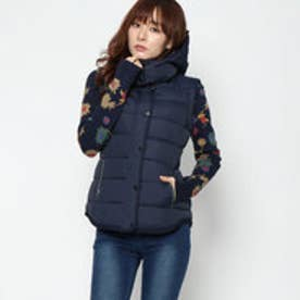 デシグアル Desigual WOMAN WOVEN PADDED SHORT OVERCOAT (Blue/Navy)