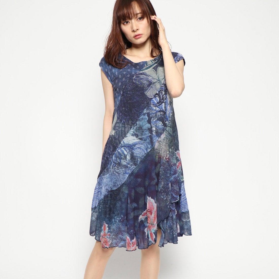 acb2e35390833 デシグアル Desigual ドレスショート袖 (ブルー) -靴&ファッション通販 ロコンド〜自宅で試着、気軽に返品