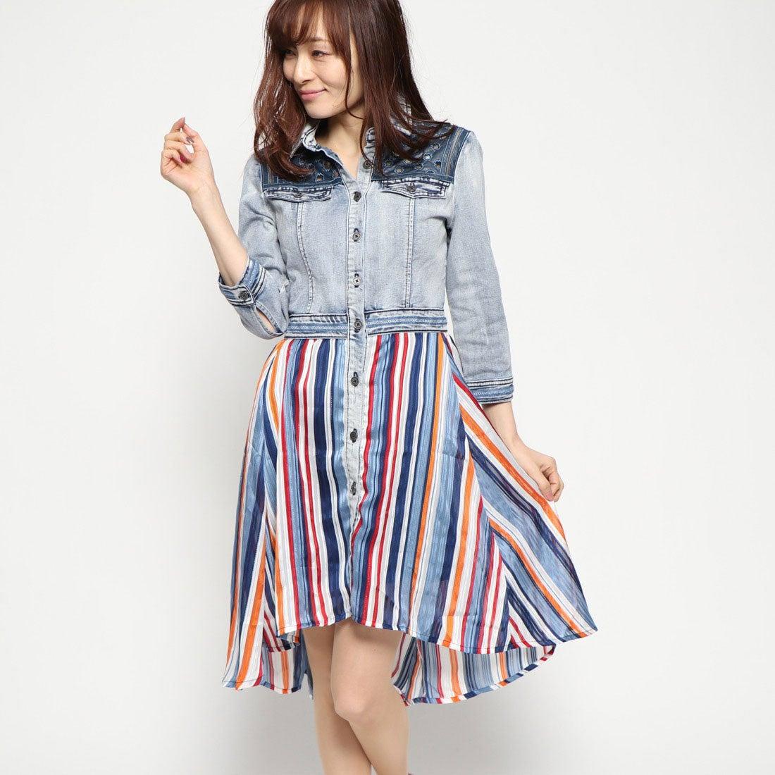 093a4c1841099 デシグアル Desigual ドレス袖なし (ブルー) -靴&ファッション通販 ロコンド〜自宅で試着、気軽に返品
