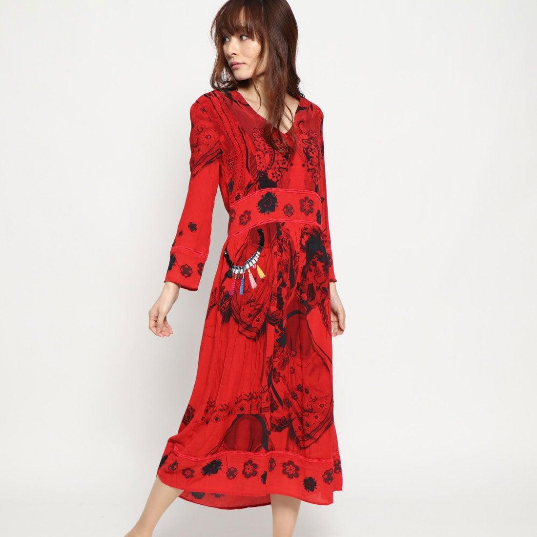 84dabc031c5a5 デシグアル Desigual ドレス長袖 (ピンク レッド) -靴&ファッション通販 ロコンド〜自宅で試着、気軽に返品