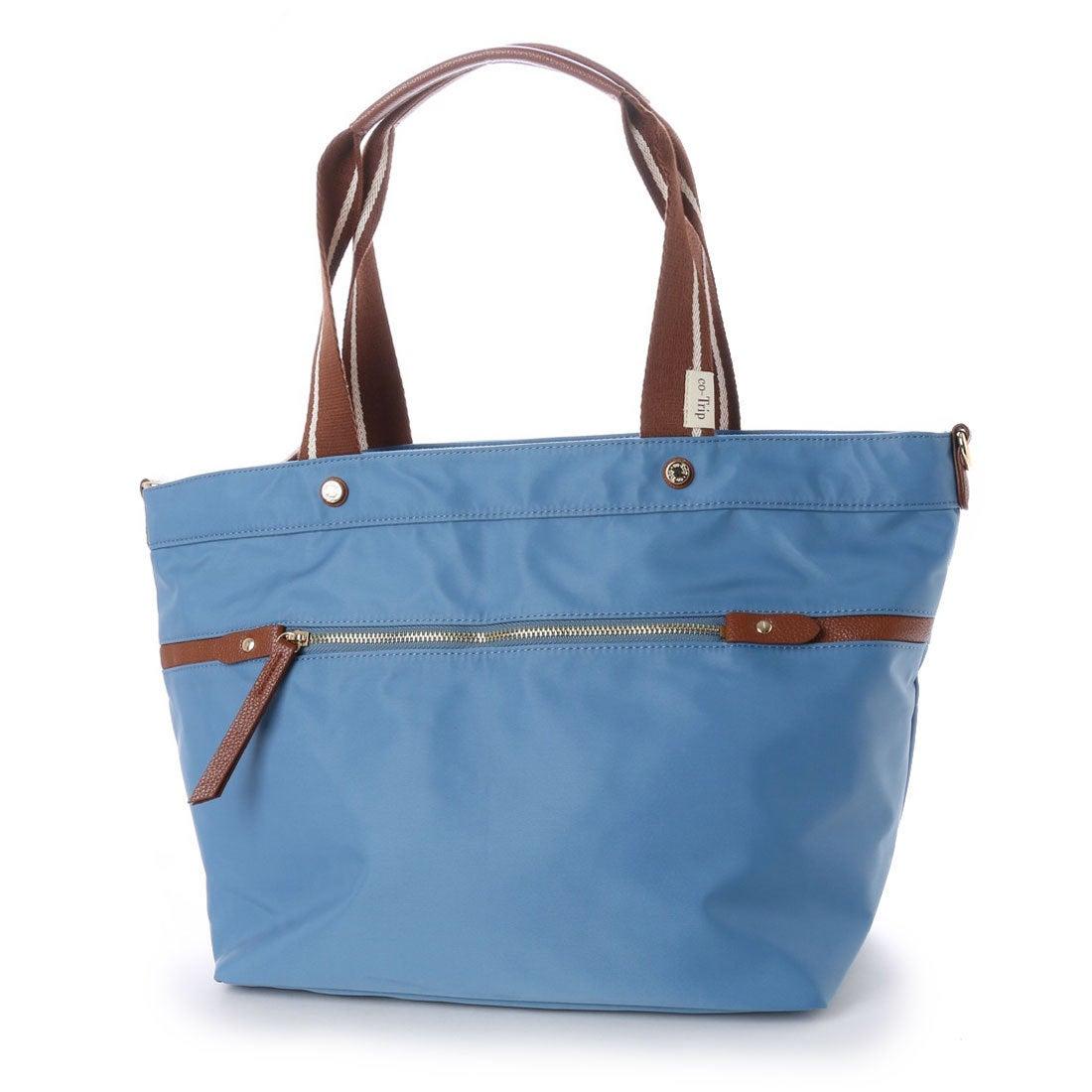 コトリップ ことりっぷ 軽量 普段使いから軽旅行まで ことりっぷ 大きめトートバッグ (ブルー) レディース