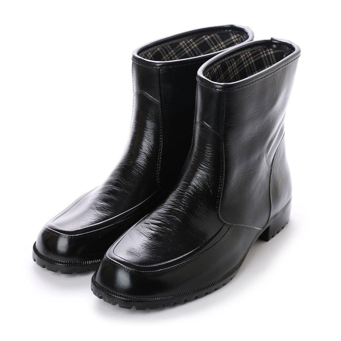 イタリコ ITALICO レインシューズ ラバー素材 完全防水 メンズ ビジネス (ブラック) メンズ
