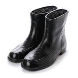 イタリコ ITALICO レインシューズ ラバー素材 完全防水 メンズ ビジネス (ブラック)