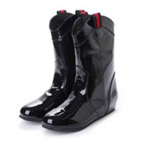 イタリコ ITALICO 晴雨兼用 レインブーツにも エナメル ペタンコブーツ (ブラック)
