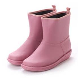 イタリコ ITALICO 日本製 防水  ペタンコ ラバーレインブーツ (ピンク)