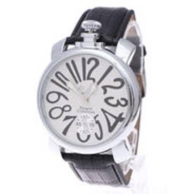 イタリコ ITALICO 【専用ケース付き】トップリューズ式ビッグフェイス腕時計 マットタイプ47mm (A(ホワイト/ブラック))
