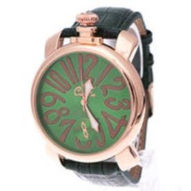 イタリコ ITALICO 【専用ケース付き】トップリューズ式ビッグフェイス腕時計 マットタイプ47mm (C(グリーン/グリーン))