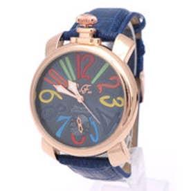 イタリコ ITALICO 【専用ケース付き】トップリューズ式ビッグフェイス腕時計 マットタイプ47mm (D(マルチ/ネイビー))