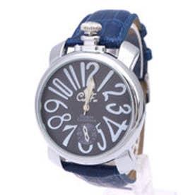 イタリコ ITALICO 【専用ケース付き】トップリューズ式ビッグフェイス腕時計 マットタイプ47mm (E(ネイビー/ネイビー))