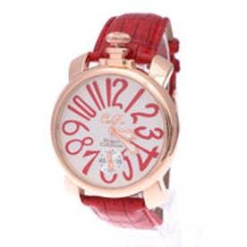 イタリコ ITALICO 【専用ケース付き】トップリューズ式ビッグフェイス腕時計 マットタイプ47mm (F(ホワイト/レッド))