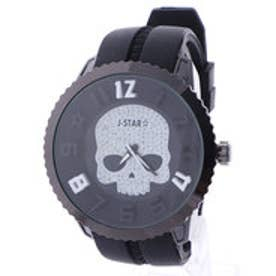 イタリコ ITALICO 【専用ケース付き】3D スカル ドクロデザイン ビッグフェイス腕時計 50mm (B(ブラック/ホワイト))