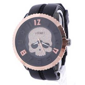 イタリコ ITALICO 【専用ケース付き】3D スカル ドクロデザイン ビッグフェイス腕時計 50mm (C(ブラック/ゴールド))