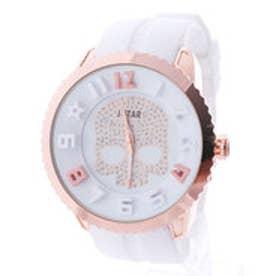 イタリコ ITALICO 【専用ケース付き】3D スカル ドクロデザイン ビッグフェイス腕時計 50mm (D(ホワイト/ゴールド))