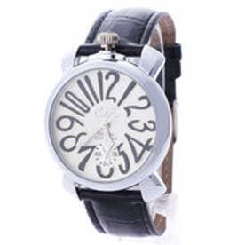 イタリコ ITALICO 【専用ケース付き】トップリューズ式ビッグフェイス ドレス腕時計 プレーンタイプ40mm (B(ブラック/ホワイト))