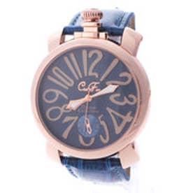 イタリコ ITALICO 【専用ケース付き】トップリューズ式ビッグフェイス ドレス腕時計 プレーンタイプ47mm (B(ブルー/ブルー))