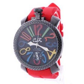 イタリコ ITALICO 【専用ケース付き】トップリューズ式ビッグフェイス腕時計 ラバーベルト47mm (B(レッド))