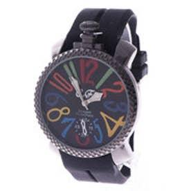 イタリコ ITALICO 【専用ケース付き】トップリューズ式ビッグフェイス腕時計 ラバーベルト47mm (D(ブラック))
