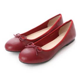 ランダ RANDA 【履き心地◎】バレエシューズ (RED)