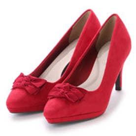 ランダ RANDA アーモンドトゥリボンパンプス (RED)