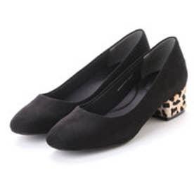 ランダ RANDA 【足にフィットするよう履き心地を追求】コンビヒールパンプス (BLACK)