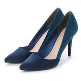 ランダ RANDA ポインテッドトゥコンビパンプス (BLUE)