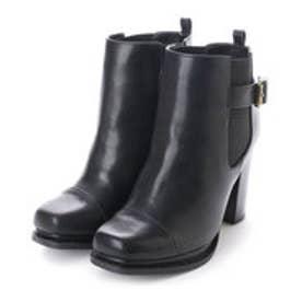 ランダ RANDA 【ストレスフリー】サイドゴアショートブーツ (BLACK SMOOTH)