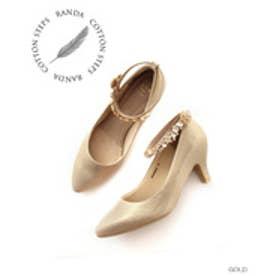 ランダ RANDA 【ストレスフリー】7WAYパンプス (GOLD)