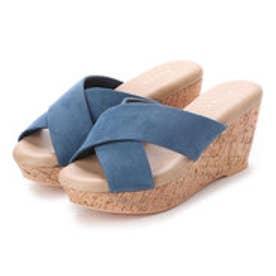 ランダ RANDA 【ストレスフリー】クロスウエッジサンダル (BLUE)