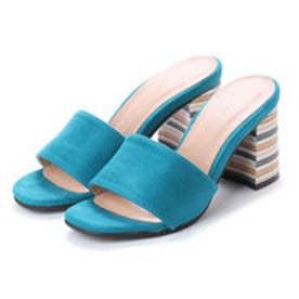 ランダ RANDA スタックヒールミュールサンダル (BLUE)