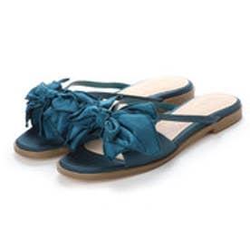 ランダ RANDA サテンリボンフラットサンダル (BLUE)