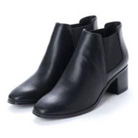 ランダ RANDA 【ストレスフリー】プレーンサイドゴアショートブーツ (BLACK SMOOTH)