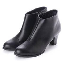 ランダ RANDA 【ストレスフリー】ベーシックショートブーツ (BLACK SMOOTH)