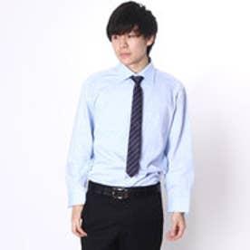 大丸・松坂屋 カミチッシマ Camicissima レギュラーフィット 長袖ワイドカラーシャツ (ブルー)