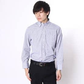 大丸・松坂屋 カミチッシマ Camicissima レギュラーフィット 長袖ボタンダウンシャツ (ブルー)
