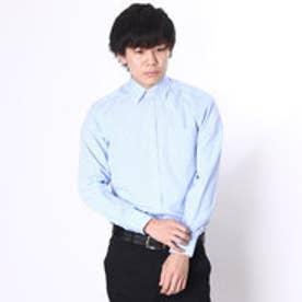 大丸・松坂屋 カミチッシマ Camicissima スーパースリムフィット 長袖ボタンダウンカラーシャツ (ブルー)