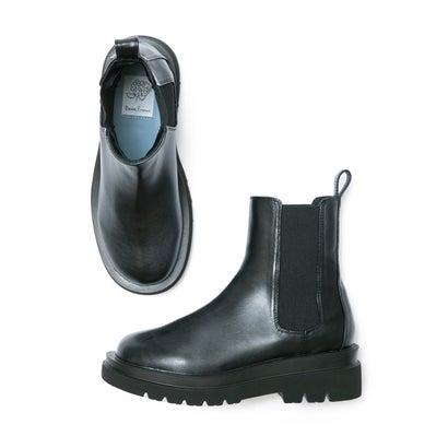 トラックソール サイドゴア ブーツ (ブラック スムース)