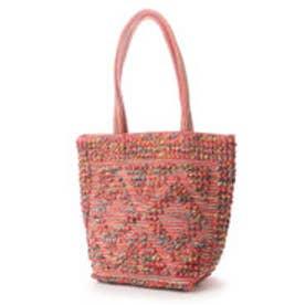 カンカン KANKAN コットンポコポコ手織りバッグ (ピンク)