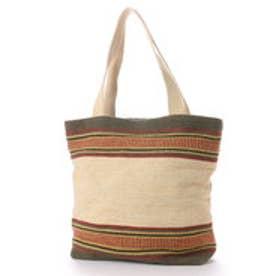 カンカン KANKAN コットン織り柄トートバッグ (ナチュラル)