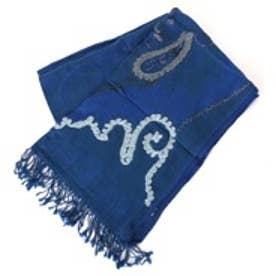 カンカン KANKAN コットンウール刺繍ショール (BL)